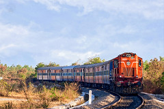 MLY ALCO WDM3A with Train 57689 (cyberdoctorind) Tags: ifttt 500px train road railway railroad track wdm3a alco indian railways locomotives stations yards running ops moula ali diesel loco shed