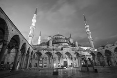 blue mosque (eb78) Tags: istanbul turkey travelphotography blackandwhite monochrome greyscale grayscale mosque bluemosque fatih