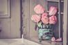ROSES (Ayeshadows) Tags: roses ventanas windows pink coffee petals mug