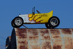 Custom (davidwilliamreed) Tags: car convertible hotrod upontheroof old rusty crusty metal tin roof
