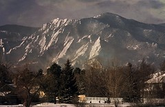flatironsFromLoCO (blancopix) Tags: mountains snow winter morning contrast flatirons front range landscape