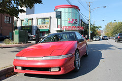 Playing Possum (Flint Foto Factory) Tags: chicago illinois urban city autumn fall october 2017 south chinatown richlandcenter foodcourt 1990 1991 mitsubishi eclipse gsx hot hatch red japanese japan import sporty sports coupe 2002 swentworthave wentworth archer intersection