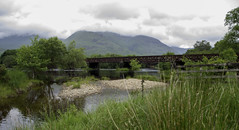 Railway crossing at Loch Awe (Coisroux) Tags: d5500 nikond nikond5500 kilchurncastle lochawe railway bridge crossing scotland rusty landscape water lochs