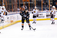 "Kansas City Mavericks vs. Indy Fuel, February 16, 2018, Silverstein Eye Centers Arena, Independence, Missouri.  Photo: © John Howe / Howe Creative Photography, all rights reserved 2018. • <a style=""font-size:0.8em;"" href=""http://www.flickr.com/photos/134016632@N02/39676460954/"" target=""_blank"">View on Flickr</a>"