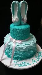 ballet (backhomebakerytx) Tags: kids birthday cake ballet mermaid two tier backhomebakery aqua pretty girl