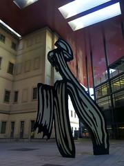 Madrid, sculpture in the courtyard of Jean Nouvel building inside Museo de Reina Sofia (Sokleine) Tags: jeannouvel nouvel architecture museum musée madrid espagne espana spain sculpture statue modernart contemporary