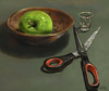 Still Life. (Mao_Design) Tags: stilllife naturemorte scissors apple pomme ciseaux shooterglass glass digitalpainting digitaldrawing wacom photoshop artwork art synstudio montreal mtl mtlmoments montrealmoments