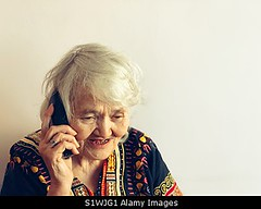 Photo accepted by Stockimo (vanya.bovajo) Tags: stockimo iphonegraphy iphone talking phone elderly woman pansioner portrait holding smartphone close up one person old retrait caucasian