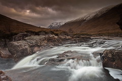 A moody Glen Etive (PeterYoung1.) Tags: atmospheric beautiful clouds glenetive glencoe hills landscape moody nature peteryoung1 river rocks scenic scotland scottish uk water waterfall