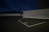 Parking lot of the neighboring supermarket. (Yasuyuki Oomagari) Tags: parking supermarket rooftop night cloud cityscape white blue nikon d810 zeiss distagont2821 newtopographics 日本 夜景 福岡