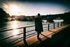 Winter Walk (Calinore) Tags: france paris city ville seine river fleuve walk walking promenade marche man homme sun soleil quais dock silhouette