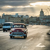Havana Sunrise along Malecon (Wits End Photography) Tags: instagram capitol color street cuba sunrise havana traffic melacon classiccar places red am dawn daybreak daylight drive early firstlight light morn morning pavement road roadway route sunup