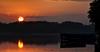 Solitude (Color Blind 56) Tags: lakemarionmn lakeville mn lake sunset sunrise sun sunshine trees boat reflections redsky water evening morning sky outdoor landscape hdr horizon foliage d7100 cb1956 minnesota nikon