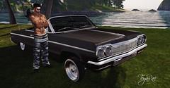 Bad boys and their toys (teyarae) Tags: bad boys classic car second life impala