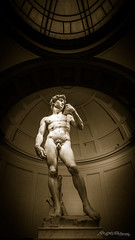 World Renown (ProPeak Photography) Tags: accademiagalery david europe famousplace firenze florence galleriadellaccademia iconic internationallandmark italian italy marble michelangelo monochrome museum sculpture sepia statue touristattraction traveldestination travelandtourism unescoworldheritagesite