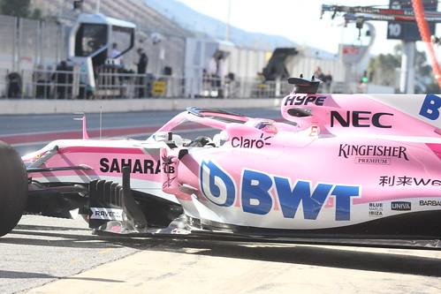 Sergio Perez in Formula One Winter Testing 2018