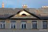 Sunbeam on Archetype shape (DimitriosPi) Tags: triangle pediment ruin roof windows building house architecture old three sky