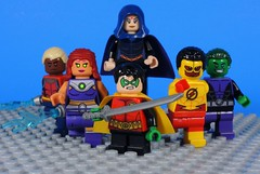 Teen Titans (Rebirth) (-Metarix-) Tags: lego super hero minifig teen titans rebirth dc universe comics comic aquald starfire robin raven kid flash beast boy team