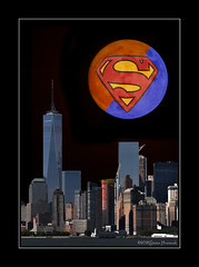 Super Blood Blue Moon Over New York City! (GAPHIKER) Tags: super blue blood moon newyorkcity 31january2018 happyslidersunday hss nyc city hudson cityscape skyline dark night sbbm noticethesailboatsaregonetoocold 13degf superbloodbluemoon