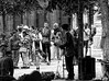 Sing a song (Jean S..) Tags: singer crowd candid streetphotography people bw blackandwhite monochrome musicians