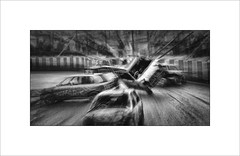 Pile up (tkimages2011) Tags: racing car banger crash pileup grainy mono monochrome spectator sport track zoom creative arty speed fast action outside outdoor