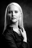Rebecca (J Wells S) Tags: studioportrait portrait blackandwhite bw monochrome blonde blond shadows prettyyoungwoman model 2018photoproexpo covington kentucky cincinnati covingtonconventioncenter staring rebecca