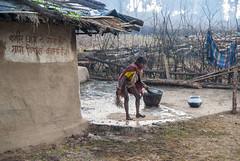 Kawardha - Chhattisgarh - India (wietsej) Tags: kawardha chhattisgarh india sony a100 tamronspaf1750mmf28xrdiiildaspif 1750 woman tribal house rural village wietse jongsma bhoramdeo
