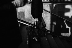 Gym 173.365 (ewitsoe) Tags: warsaw warszawa city vibe bnw blackandwhite monochrome canon eos 6dii ewitsoe stairs bag exposed hand shadows walking pedestrian citylife life poland europe