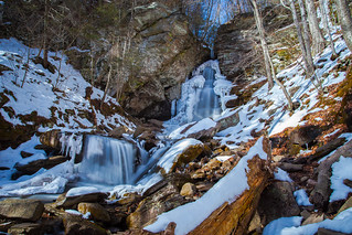 Winter Flow Over Buttermilk Falls (Alternative Take)