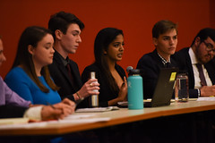 SGA Debates 2018-18 (dailycollegian) Tags: carolineoconnor sga debates hosted by collegian commonwealth honors college events hall event roots candidates for president vice trustee jiya nair