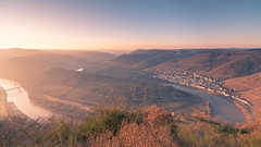 Moselle River Turn (redfurwolf) Tags: mosel moselle river sunrise sunriselight landscape outdoor outdoors nature sky epic panorama pano redfurwolf sonyalpha a99ii sony sal1635f28za mountains water
