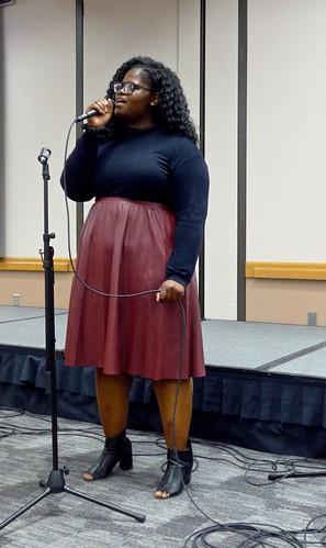 Tshiyamba Ngeleka sings, WSC International Club dinner