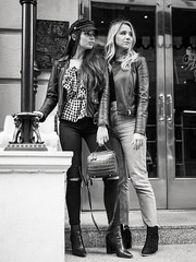 Fashion forward (Vincent F Tsai) Tags: portrait fashion editorial style street blackandwhite bw monochrome fall winter spring urban girl ladies newyorkcity nyc leicadgsummilux25mmf14 panasonic lumixgx8