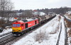 Doing My Bit.... (marcus.45111) Tags: weather snowdiversions2018 snow dbc freight train oil tanker 60020 class60tugex british rail6e54thornhilluk builtuk railways snowcanon railway photography dslrcanon 5dmk112018flickrflickr uk