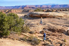 The Kids On The Slickrock Trail (Joe Shlabotnik) Tags: nationalpark utah hiking violet 2017 canyonlands everett november2017 canyonlandsnationalpark afsdxvrzoomnikkor18105mmf3556ged