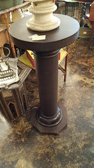 "MAHOGANY EMPIRE STYLE PEDESTAL.  $135. • <a style=""font-size:0.8em;"" href=""http://www.flickr.com/photos/51721355@N02/24758321057/"" target=""_blank"">View on Flickr</a>"