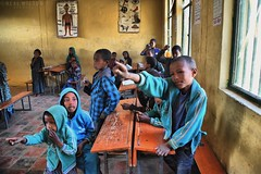 Ethiopian children in school (Neal J.Wilson) Tags: ethiopia african africa children school answers kids learning travelling energetic ethiopian third world education