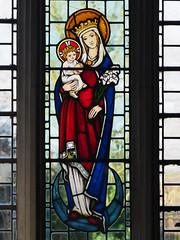 Virgin & Child (badger_beard) Tags: church stained glass cottered herts hertfordshire east vitrail parish rural country st john baptist
