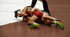 BRO-STA 133 2018-01-13 DSC_8010 (bix02138) Tags: brownuniversity brownbears stanforduniversity stanfordcardinal pizzitolasportscenter pizzitolasportscenterbrownuniversity providenceri january13 2018 wrestling sports intercollegiateathletics athletes jocks ©2018lewisbrianday 133pounds 133 nicklattanze anthonyle