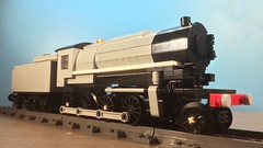Lego: USTAC S160 (TheBricksmith) Tags: lego ustac s160 steam train engine war austerity goods millitary usa army afol moc my own creation photo