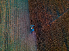 Harvest (Daniel000000) Tags: drone dji field wisconsin fall harvest tractor blue brown nature landscape photography light old lines country pattern sunlight color art orange food spark djispark