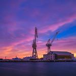 Sunset over the harbor thumbnail