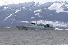HMS Penzance, M106; Firth of Clyde, Scotland (Michael Leek Photography) Tags: ship navalvessel clyde firthofclyde strone cowal holyloch winter nato natowarships minehunter minesweepers scottishshipping scottishcoastline scottishlandscapes scotland warship hmnbclyde faslane michaelleek michaelleekphotography britainsarmedforces britainsnavy rn royalnavy