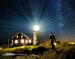 Seguin Island Lighthouse: Bath, Maine (Lerro Photography) Tags: lighthouse seguin island maine beam beacon night nighttime nightsky sky long exposure longexposure lighthousekeeper keeper stars star milky way bath bathmaine