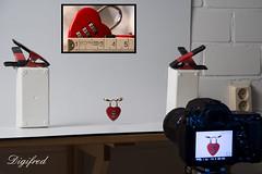 Making of Fastener. (Digifred.) Tags: macromondays fastener digifred 2018 hmm nederland netherlands nikond500 makingof macro macrophotography closeup padlock hangslot hartje liefde lovepadlock symboliek symbolism connected