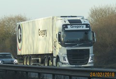 Gregory distribution GN66 SYF near Shrewsbury (joshhowells27) Tags: lorry volvo fh refrigerated gregory