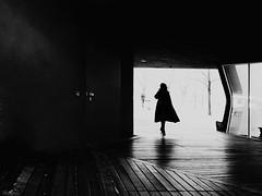 The lady in.... (René Mollet) Tags: blackandwhite bw view vitra lady light backlight street streetphotography shadow silhouette streetart streetphotographiebw urban urbanstreet renémollet monchrom monochromphotographie photo18 penf people passage