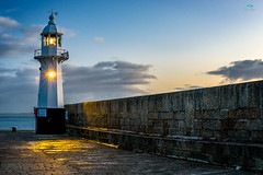 Mevagissey Harbour Lighthouse (jpearce2307) Tags: mevagissey harbour uk lighthouse litup sunrise lexisplace