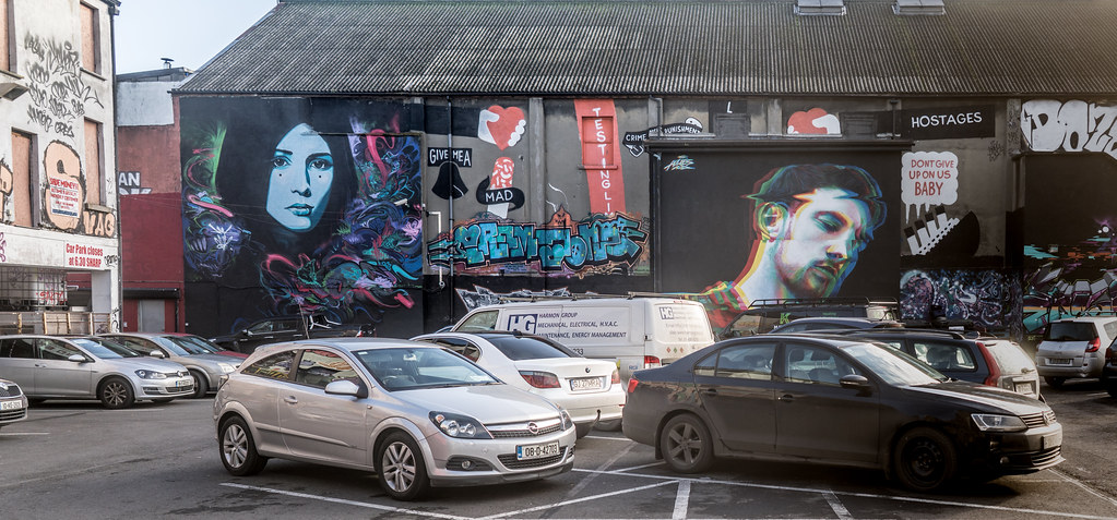 STREET ART AT THE TIVOLI CAR PARK IN DUBLIN [LAST CHANCE BEFORE THE SITE IS REDEVELOPED]-135603
