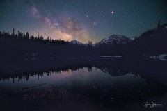 For Eternity (Rajesh Jyothiswaran) Tags: astronomy astrophotography bear lake calm dark hallet peak longs mars milky way mirror nymph peaceful peaks reflection rockies rocky mountain national park saturn serene sky snow stars still water